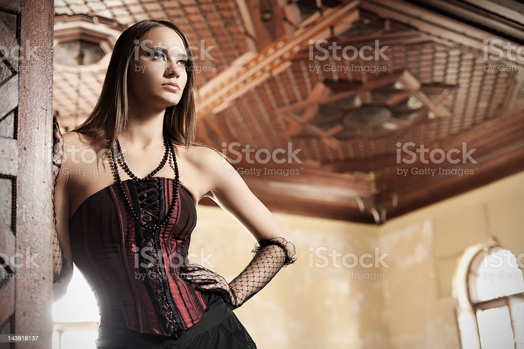 Gothic woman royalty-free stock photo