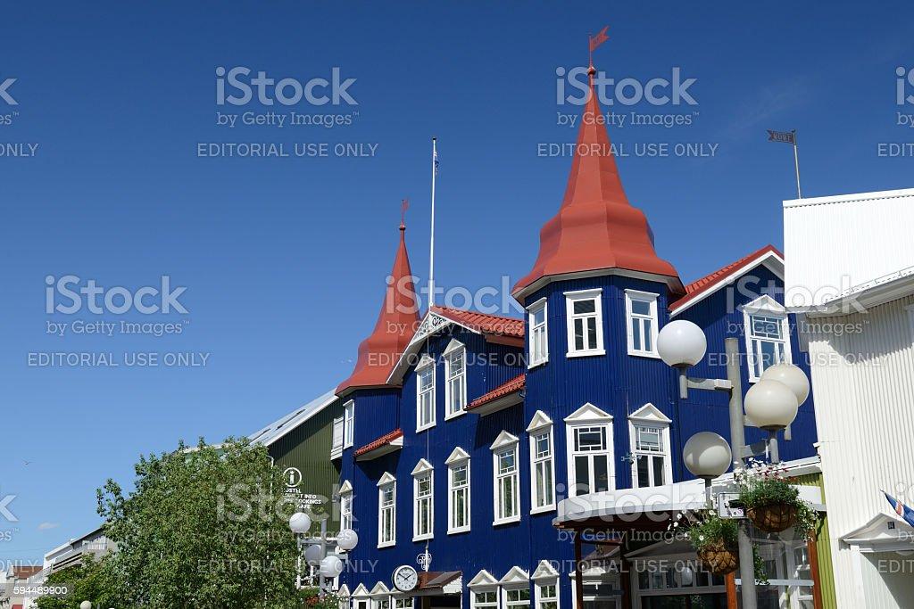 Gotubarinn Bar in Akureyri of Iceland stock photo