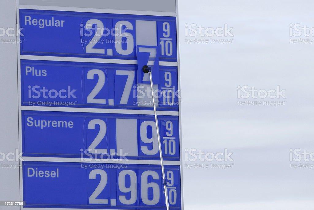 Gouging Gas Prices royalty-free stock photo