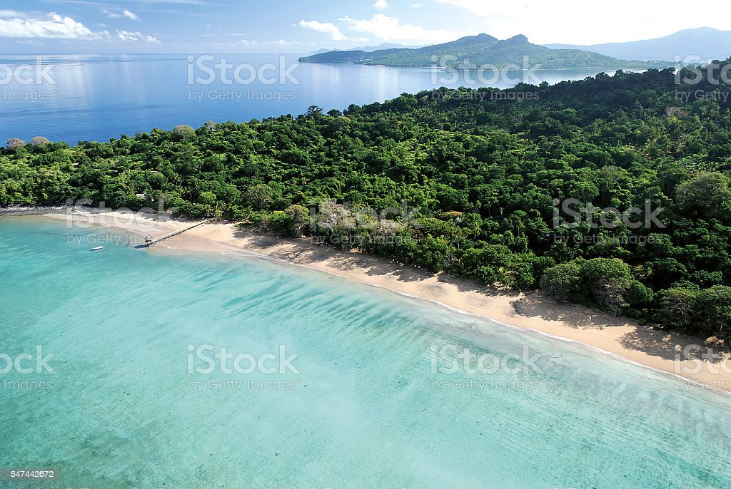 Plage N'Gouja, Mayotte stock photo