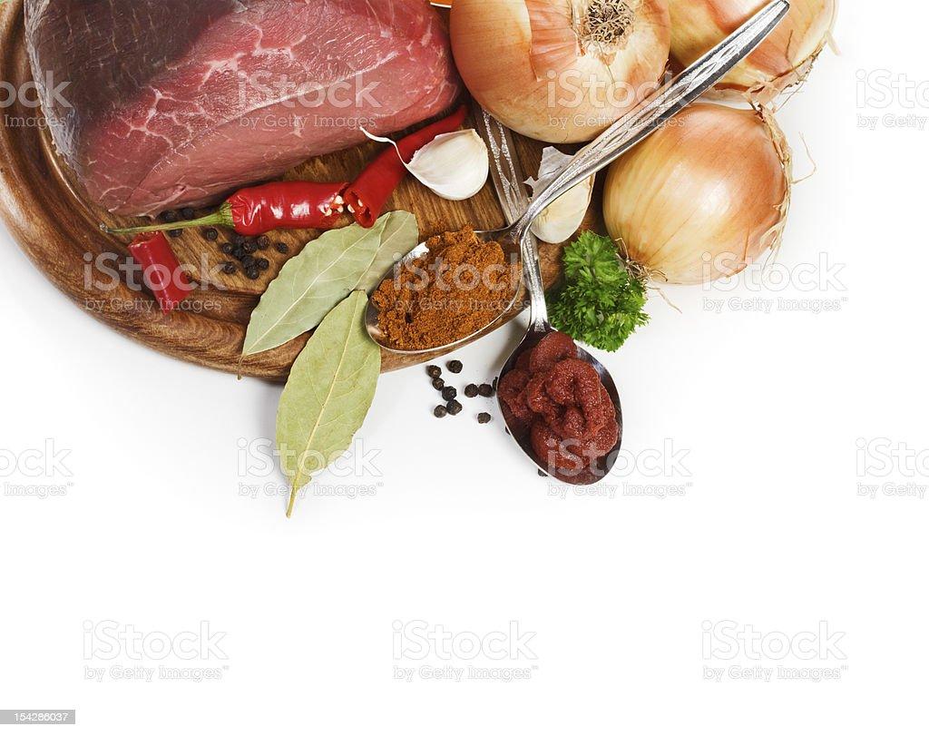 Goulash ingredients royalty-free stock photo