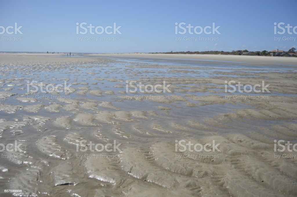 Gould's Inlet Low Tide St. Simons Island stock photo