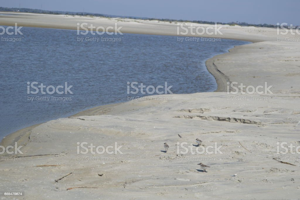 Gould's Inlet St. Simons Island stock photo