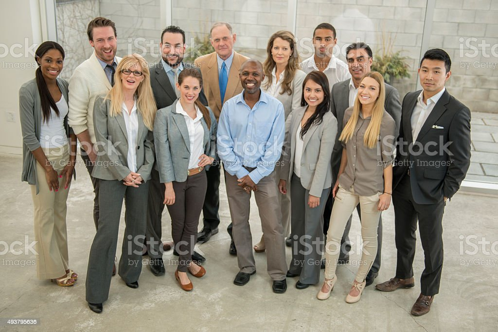 Goup of Business Professionals in the Office stock photo