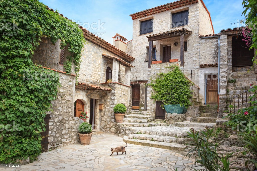 Gourdon, French Riviera, France stock photo