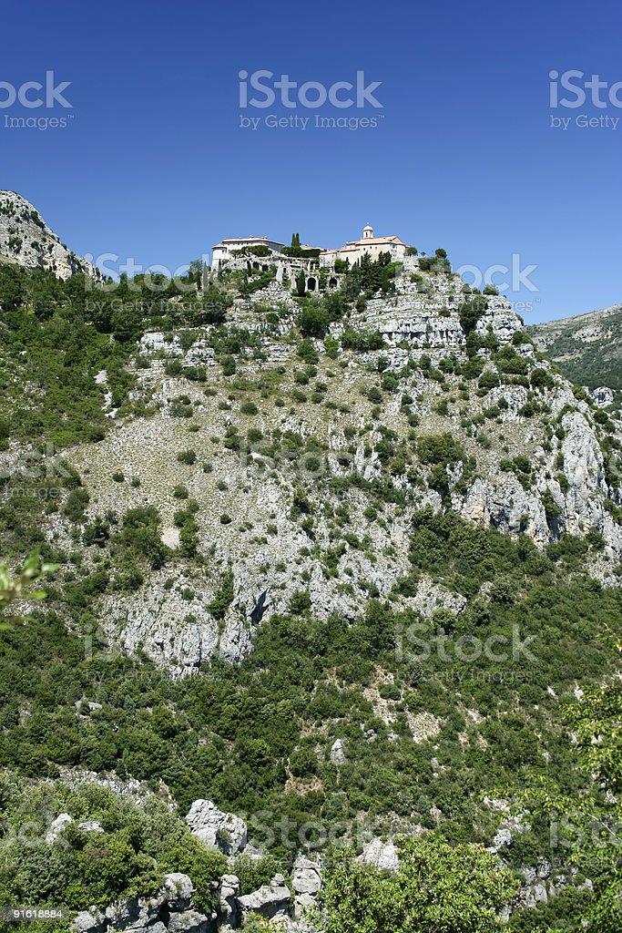 gourdon monastery royalty-free stock photo