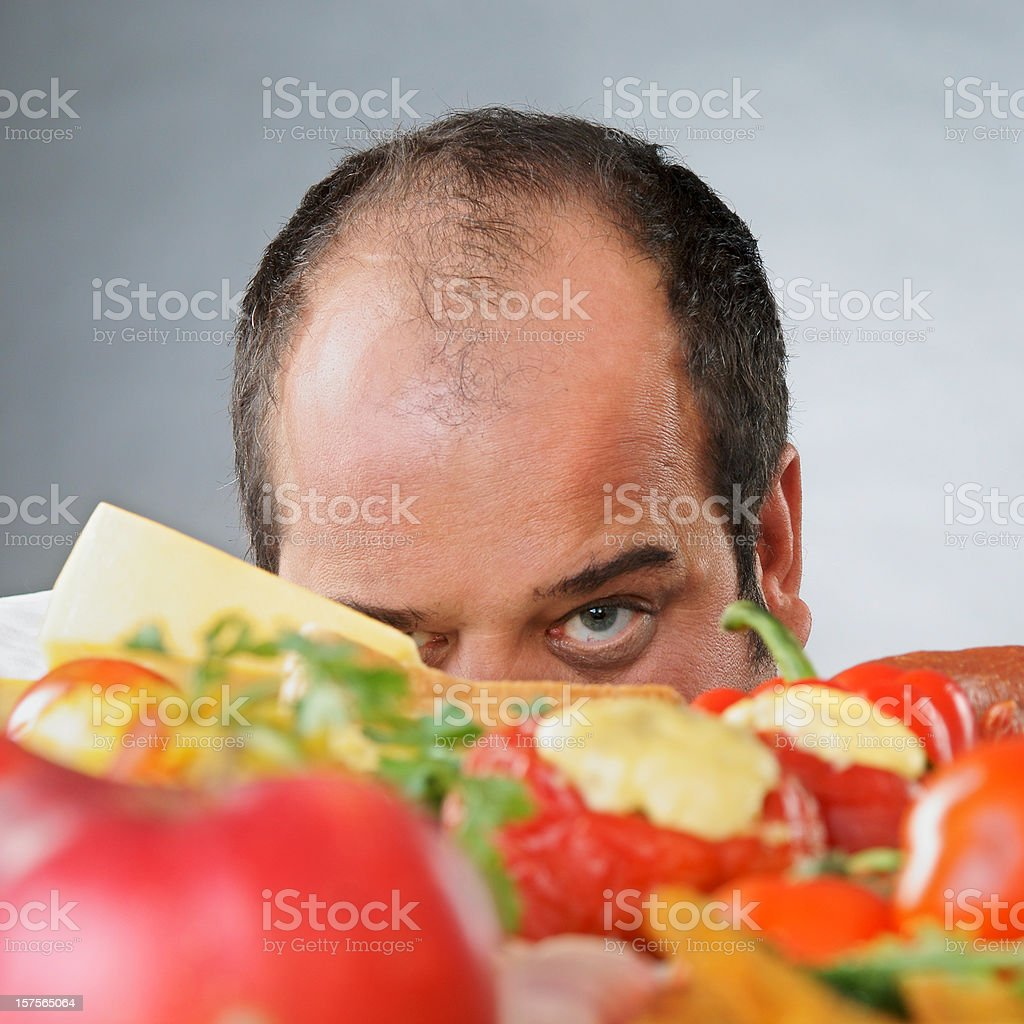 Gourmand observes you royalty-free stock photo