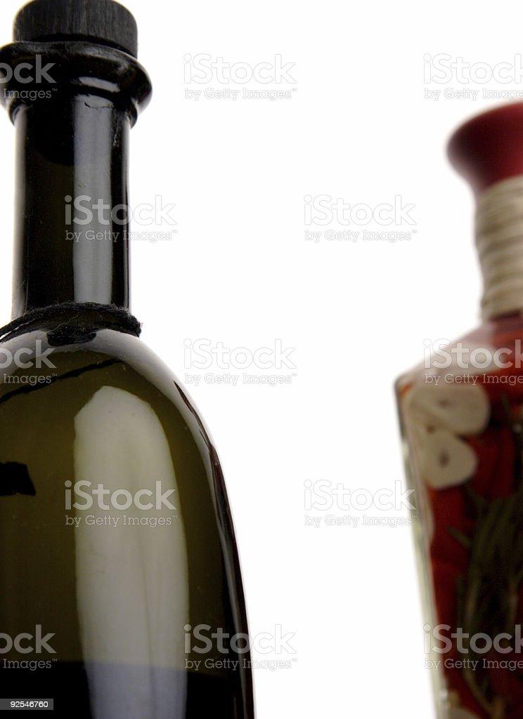gourmet accent bottles stock photo