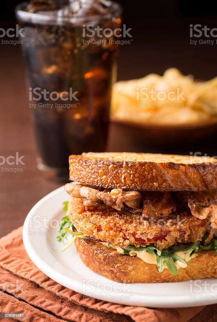 Gourmet BLT Sandwich stock photo