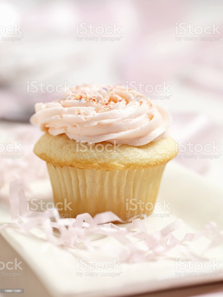 Gourmet Buttercream Cupcake royalty-free stock photo