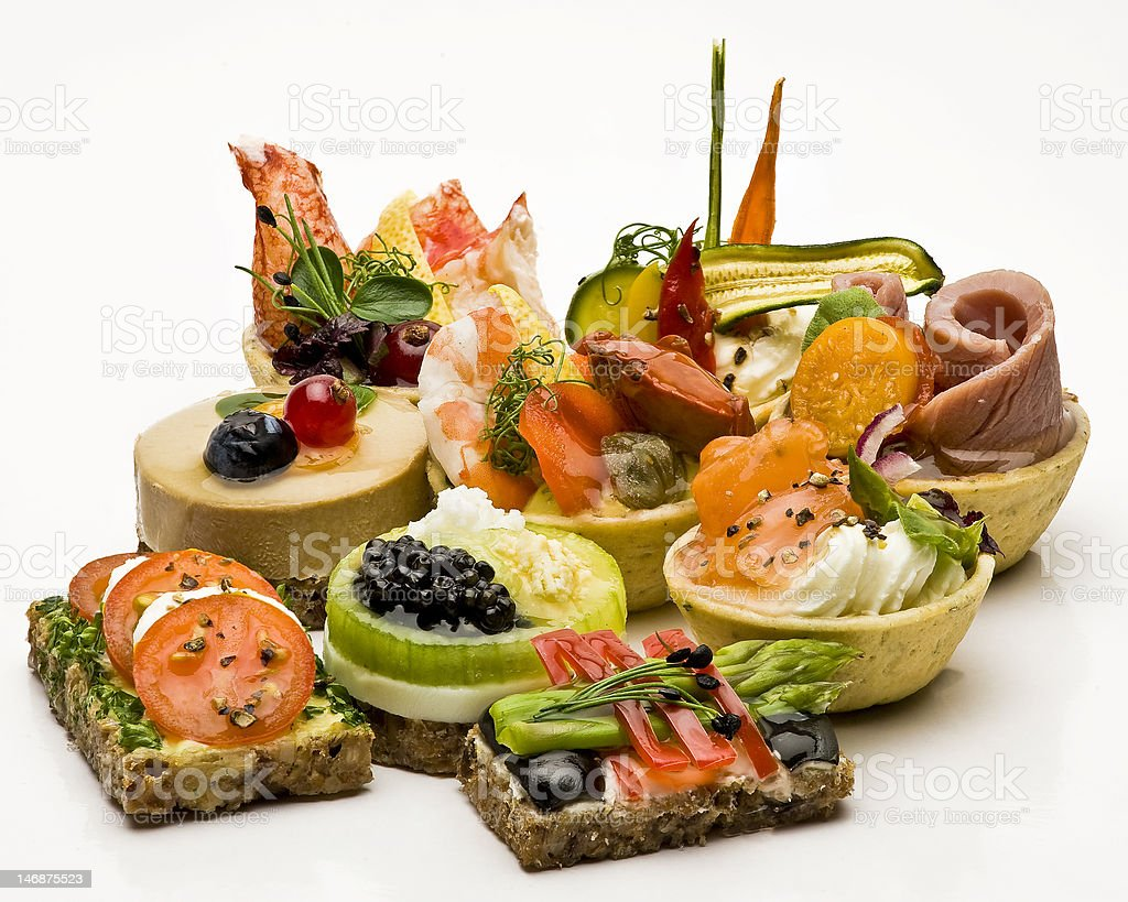 Gourmet canape stock photo