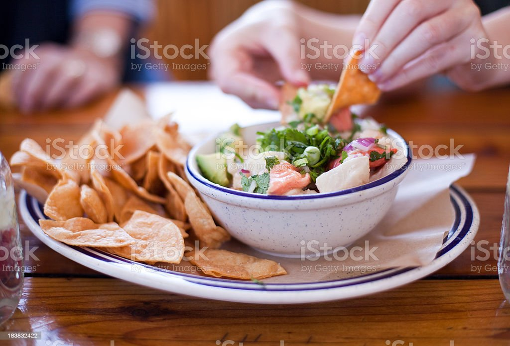 Gourmet Ceviche stock photo