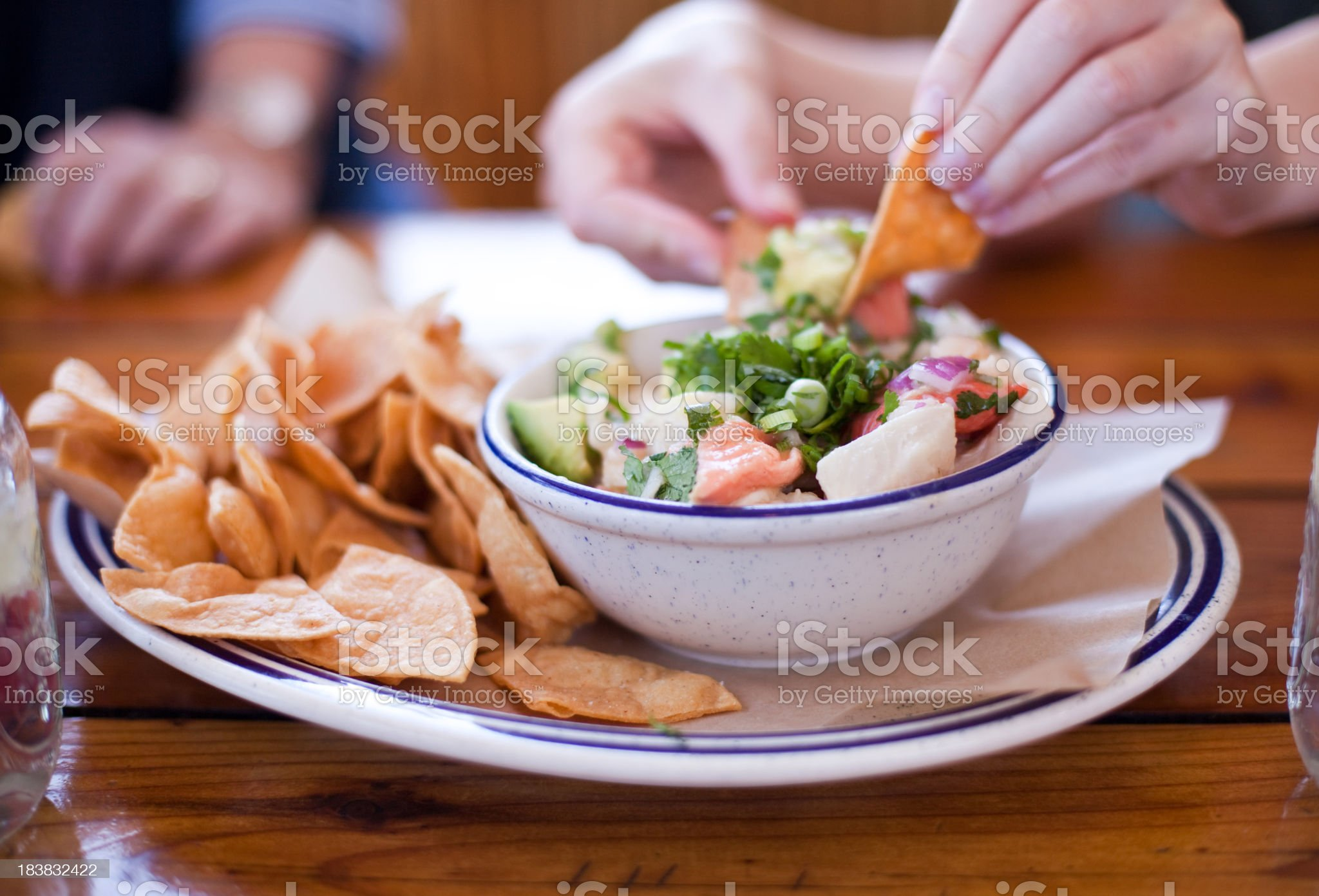 Gourmet Ceviche royalty-free stock photo