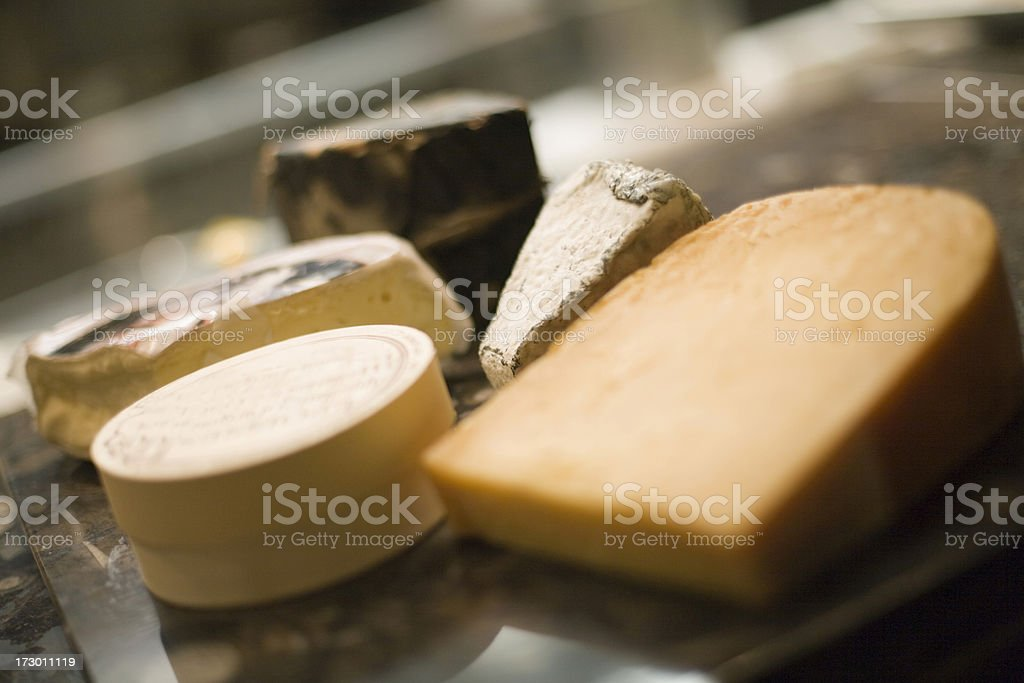 Gourmet cheeses royalty-free stock photo
