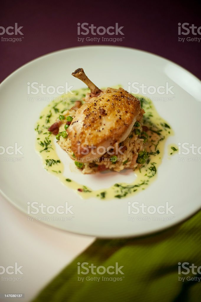 Gourmet chicken breast royalty-free stock photo