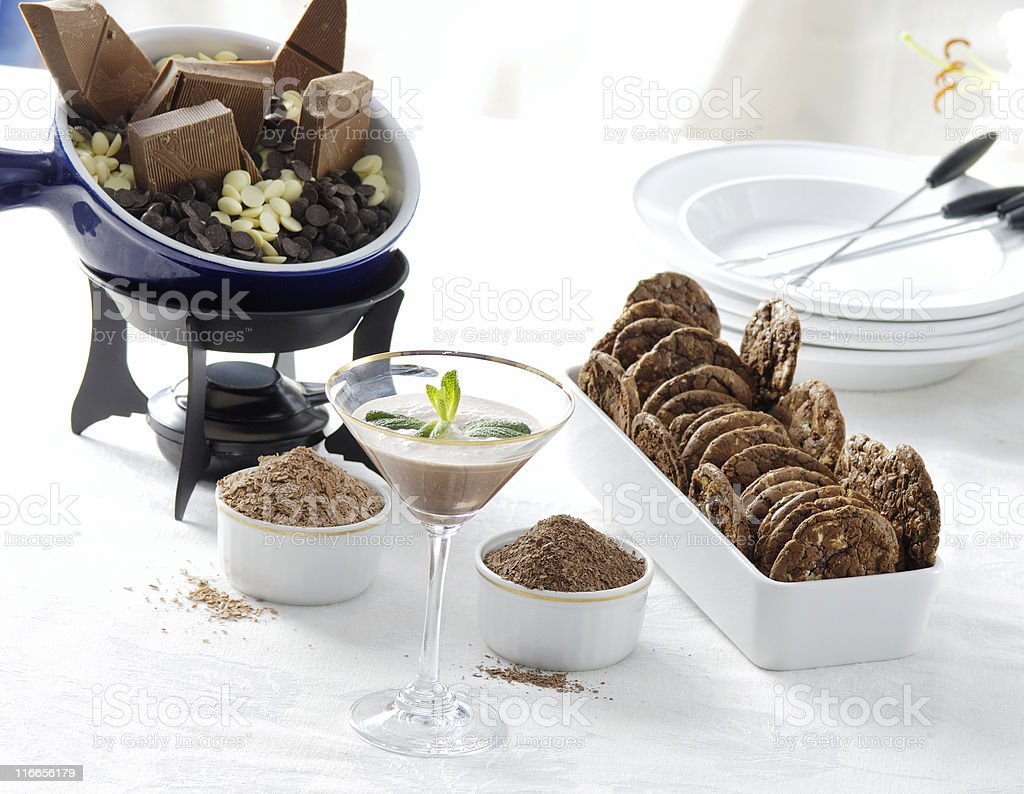 Gourmet chocolate party royalty-free stock photo
