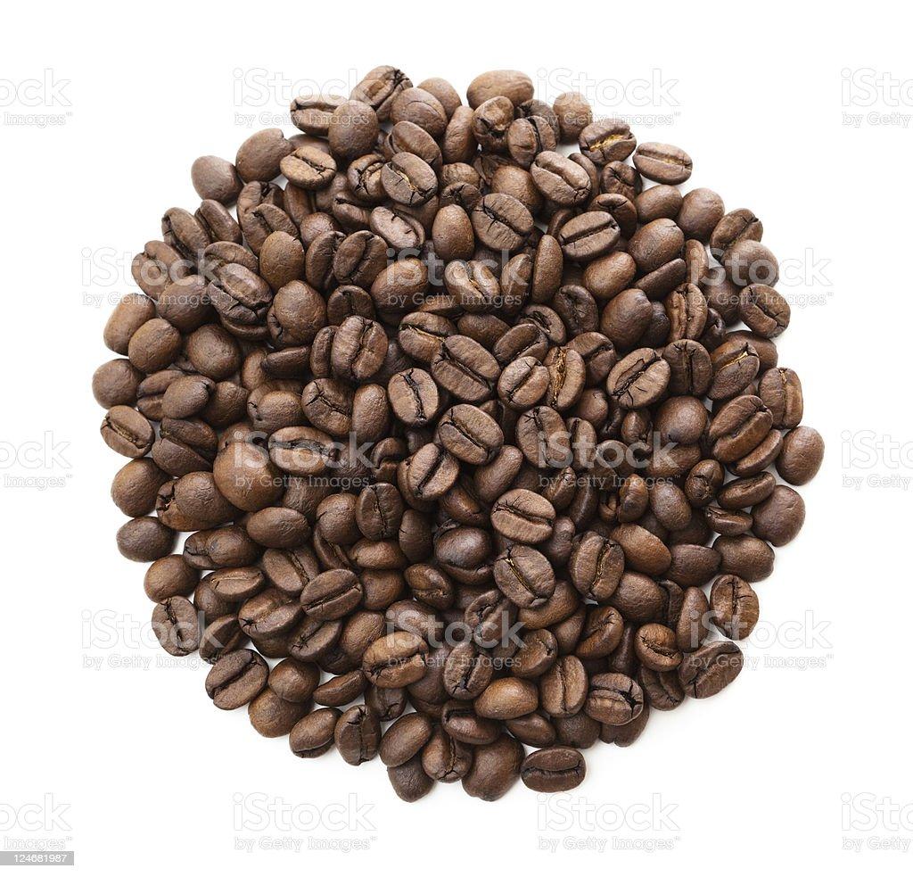 Gourmet-Kaffee Bohnen Isoliert – Foto