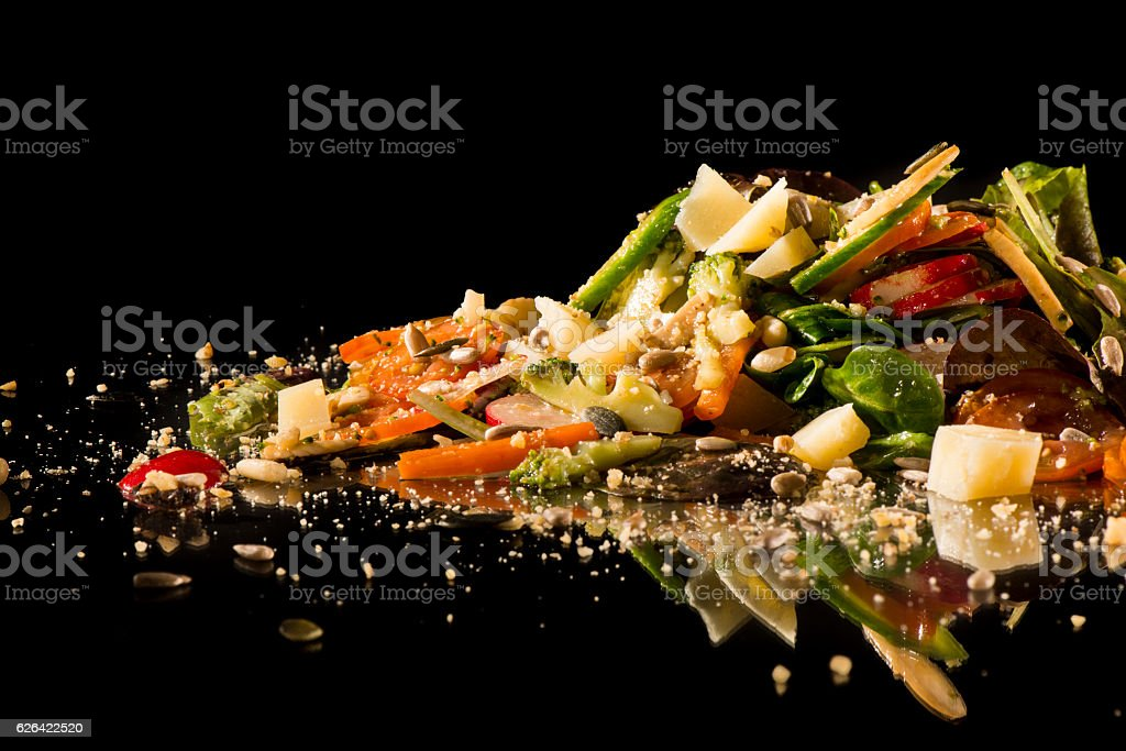 Gourmet creative salad stock photo