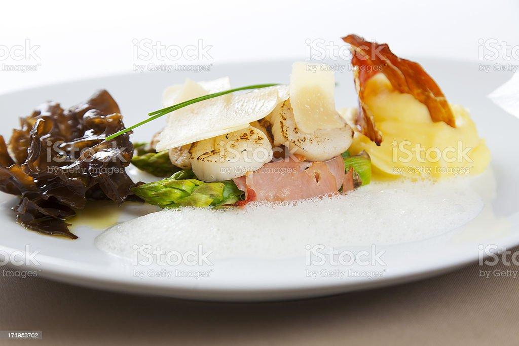 gourmet dish royalty-free stock photo