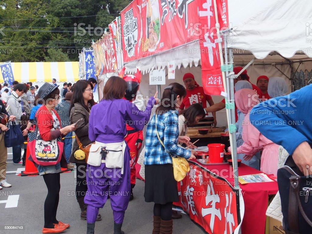 Festival de comida Gourmet en Japón foto de stock libre de derechos