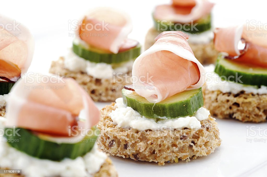 Gourmet finger food royalty-free stock photo
