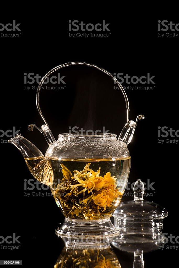 Gourmet flower of tea stock photo