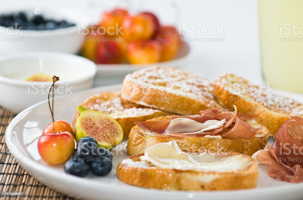 Gourmet French Toast royalty-free stock photo