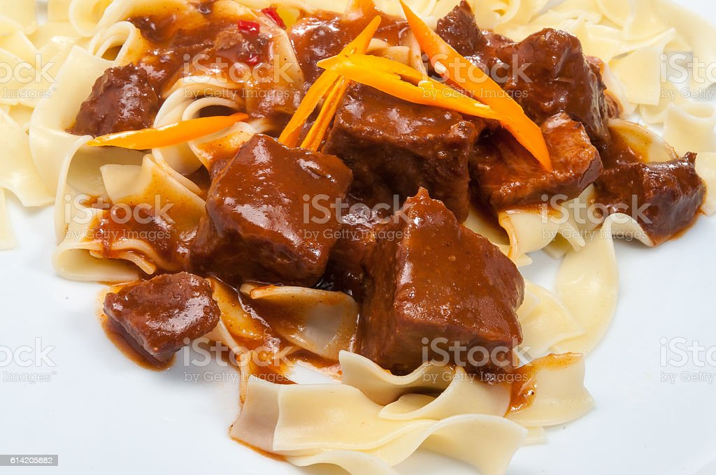 Gourmet Gulasch stock photo