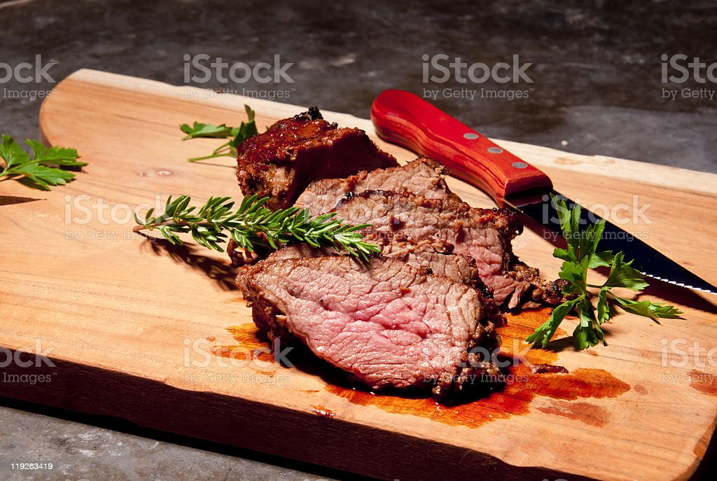 Gourmet grilled steak royalty-free stock photo