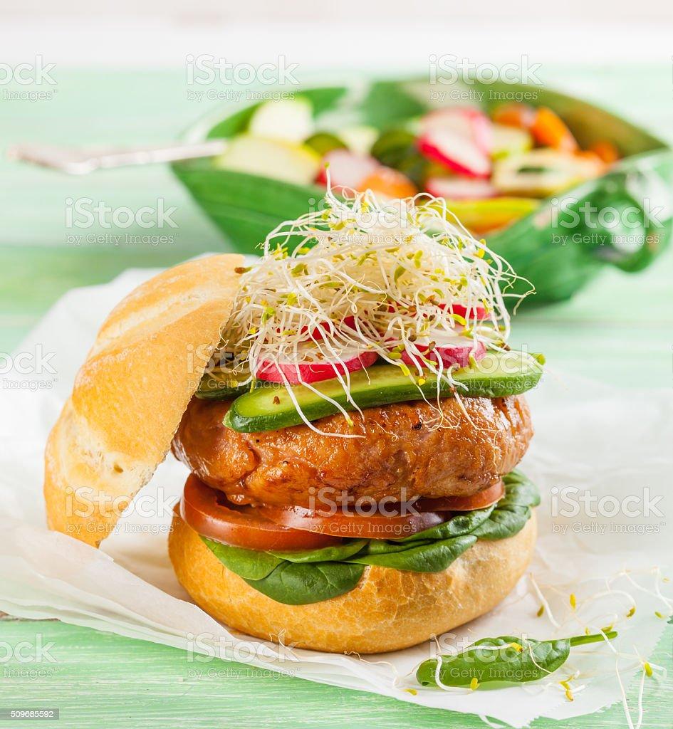 Gourmet hamburger stock photo