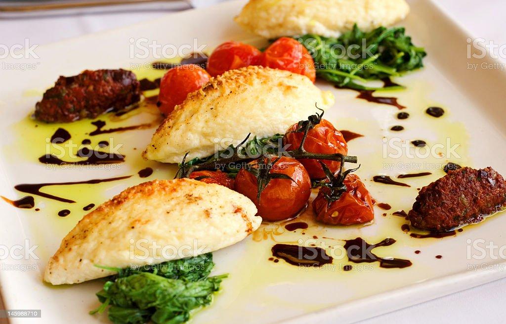 Gourmet Italian Gnocchi Dinner royalty-free stock photo