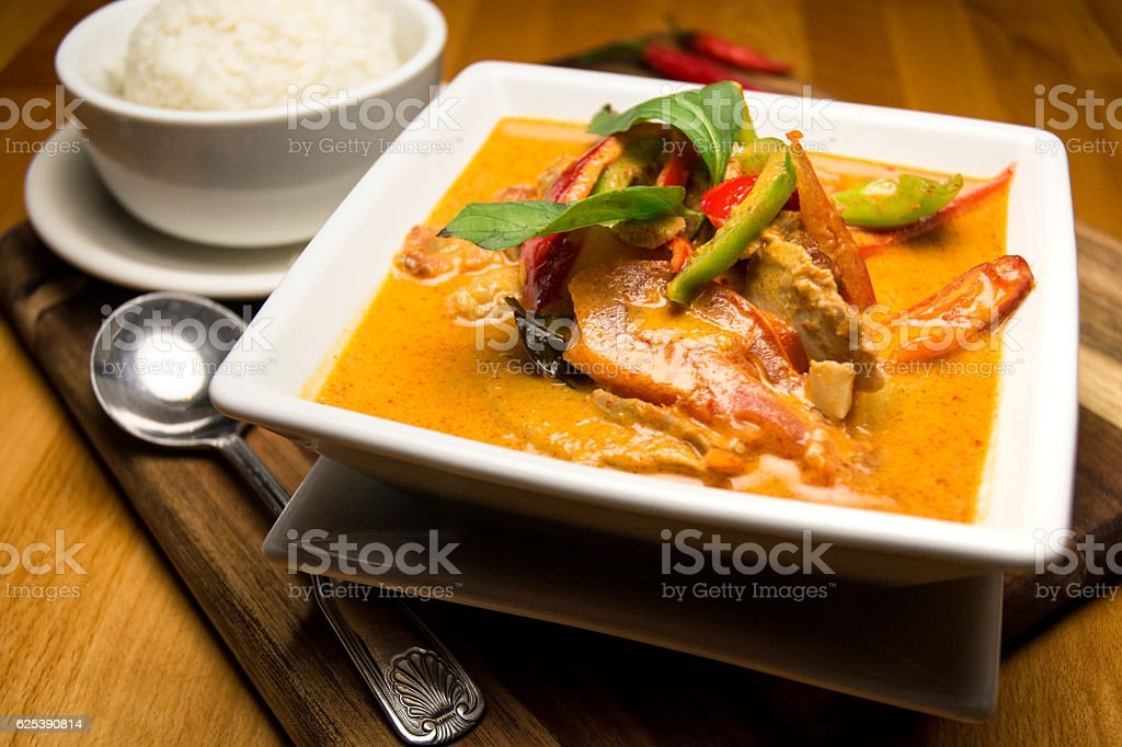 Gourmet Japanese Fish Soup With White Steamed Rice stock photo