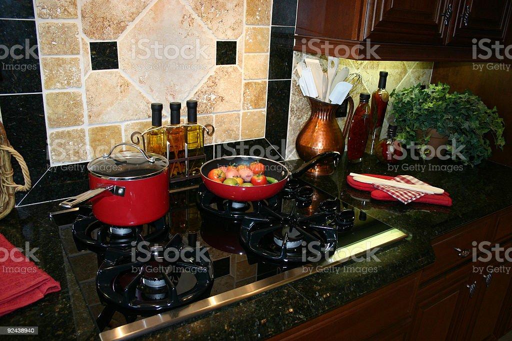 Gourmet Kitchen Stove royalty-free stock photo