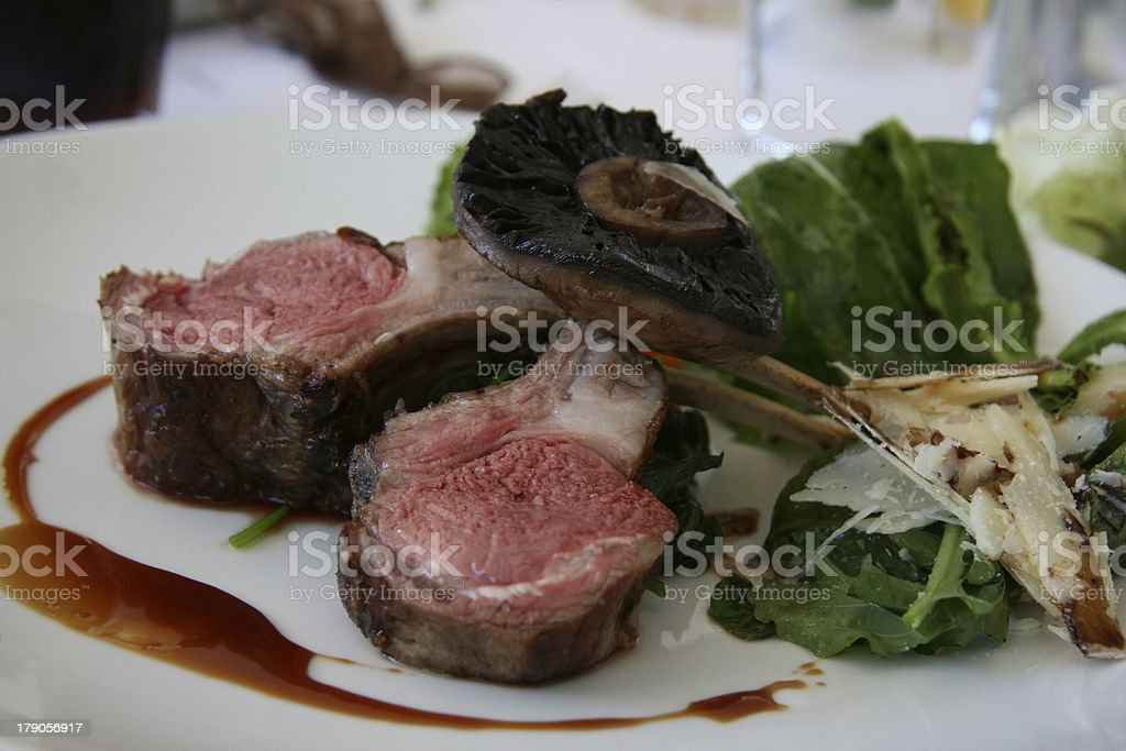Gourmet Lamb Cutlets stock photo