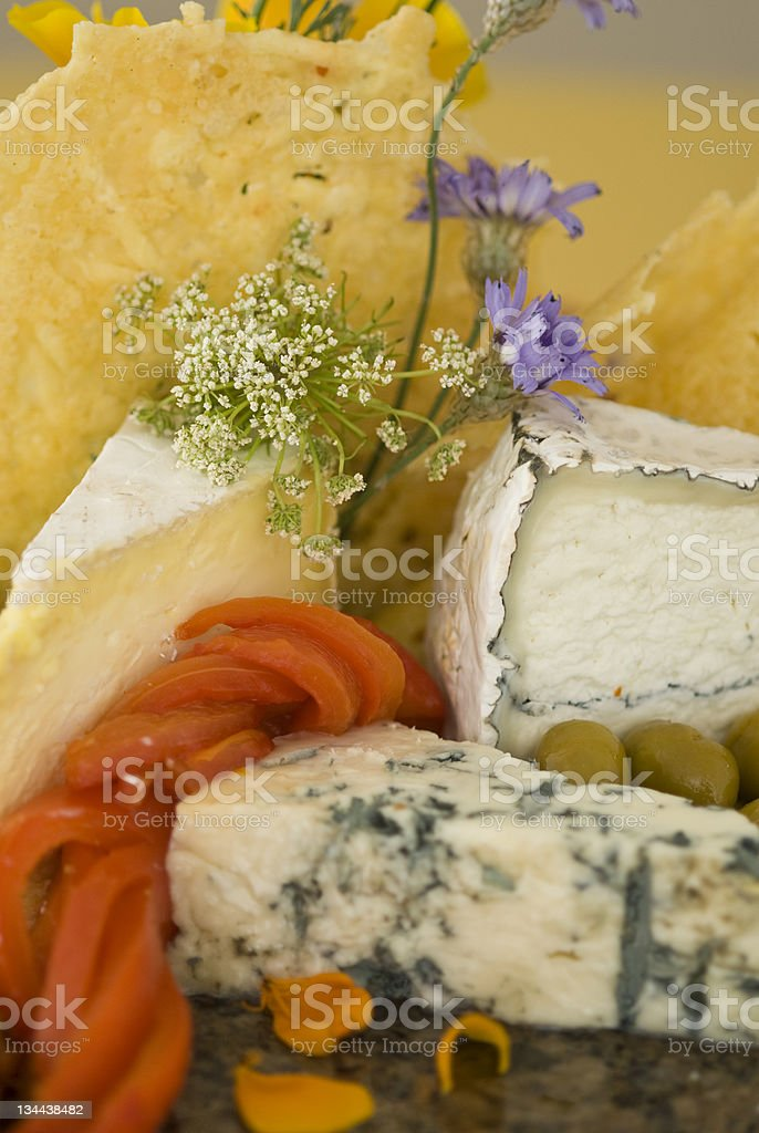 Gourmet Meat and Cheese Tray stock photo