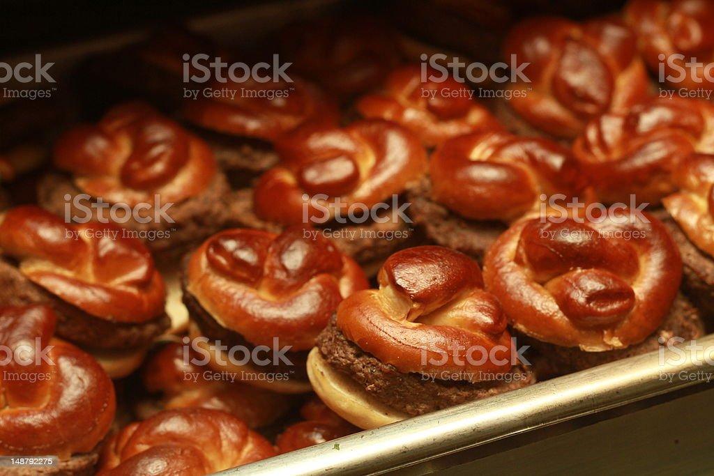 Gourmet Mini Burgers stock photo