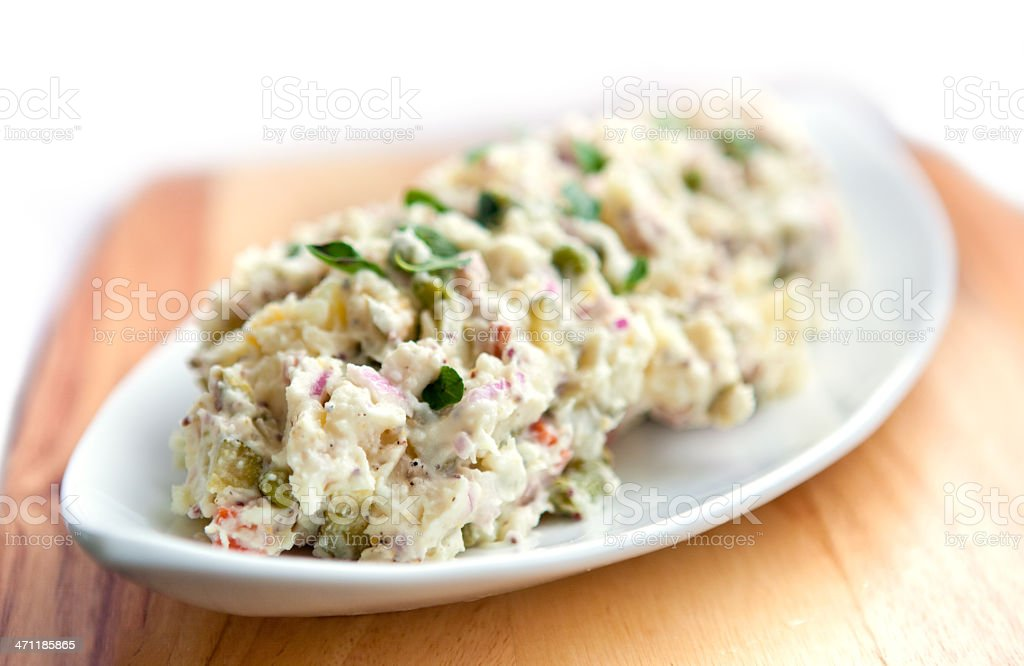 Gourmet potato salad stock photo