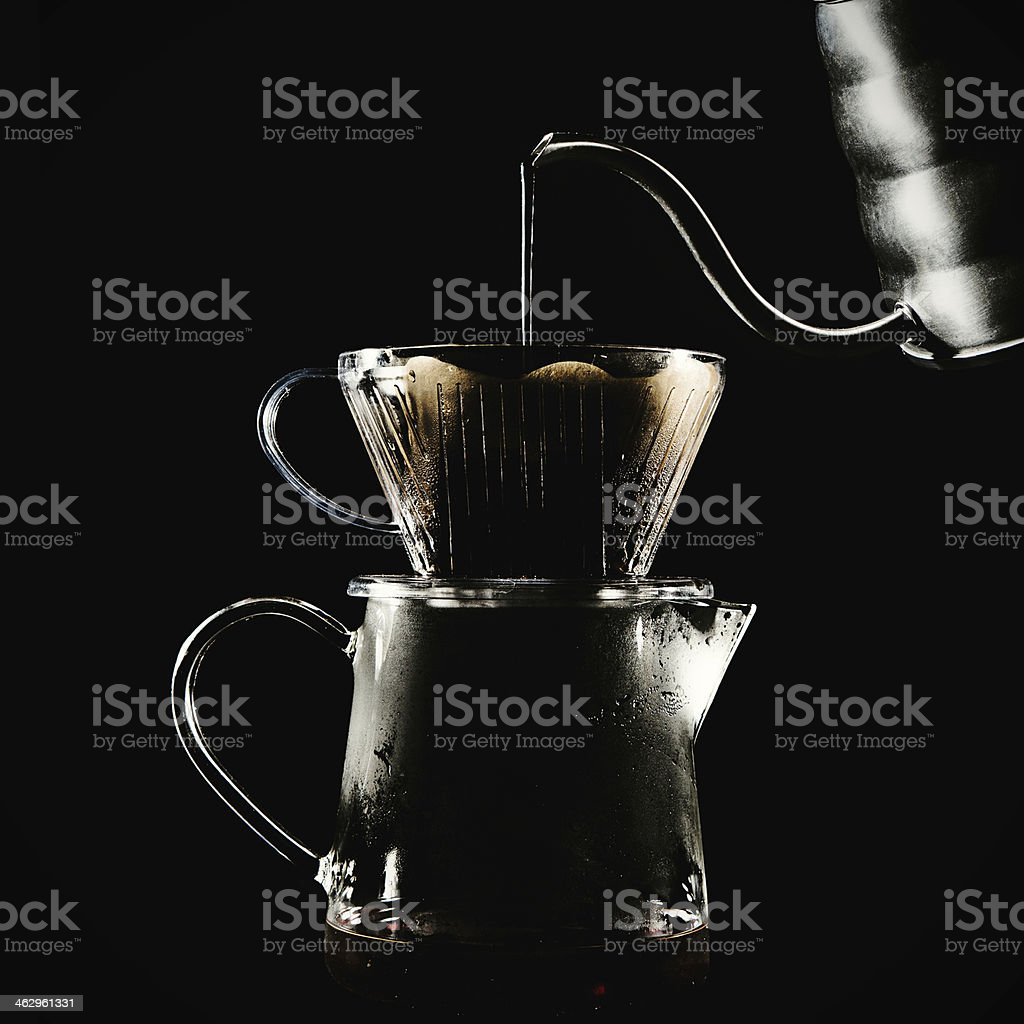 Gourmet Pourover Coffee Preparation royalty-free stock photo