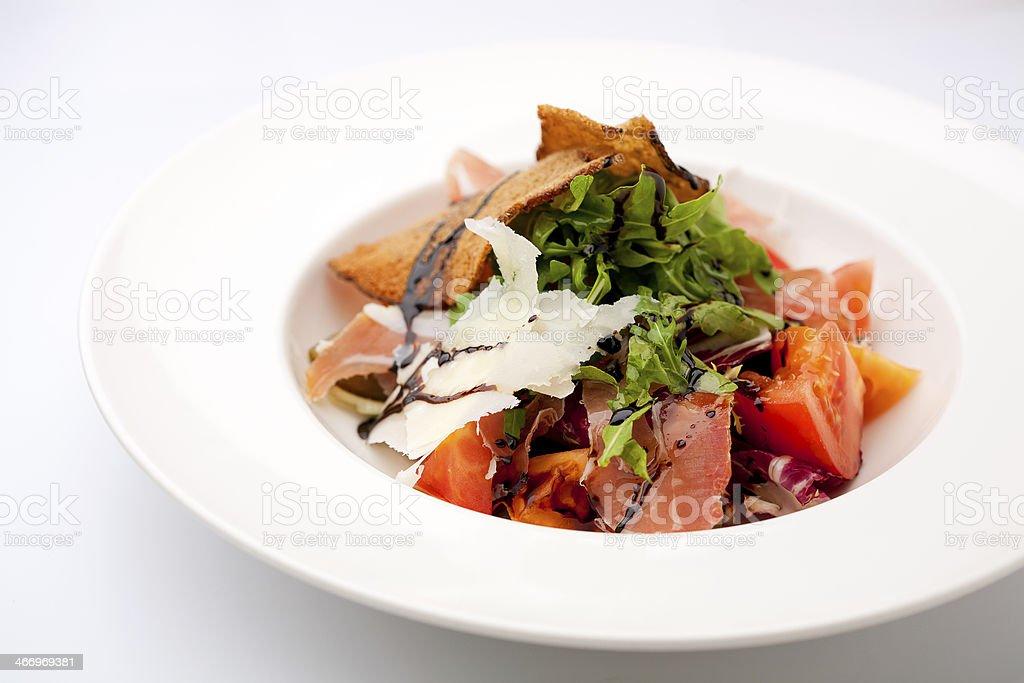 gourmet prosciutto salad royalty-free stock photo