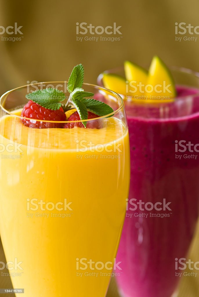 Gourmet Refreshing Fruit Smoothie royalty-free stock photo