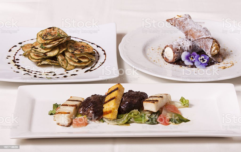 Gourmet Restaurant Food royalty-free stock photo