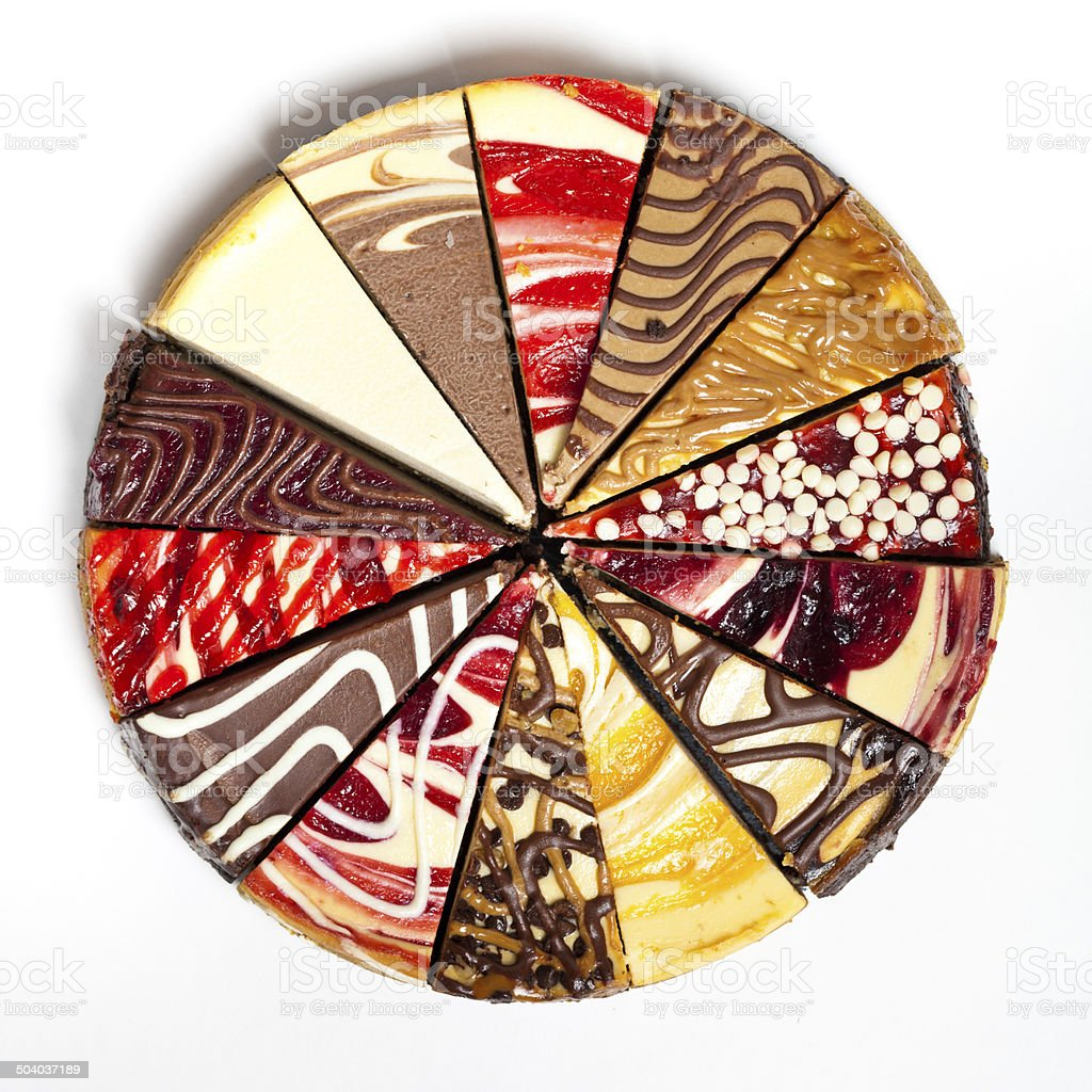 Gourmet Sampler Cheesecake stock photo