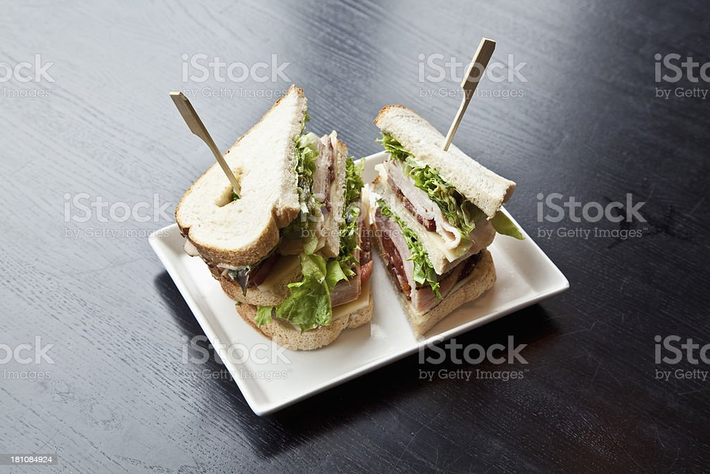 Gourmet sandwich royalty-free stock photo