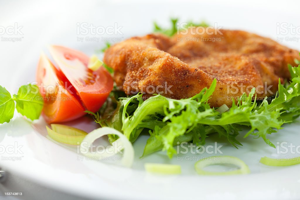 Gourmet Schnitzel royalty-free stock photo