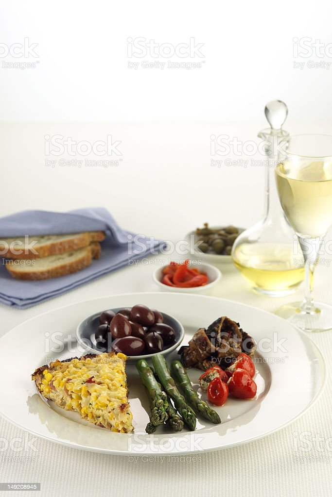 Gourmet selection of appetisers royalty-free stock photo