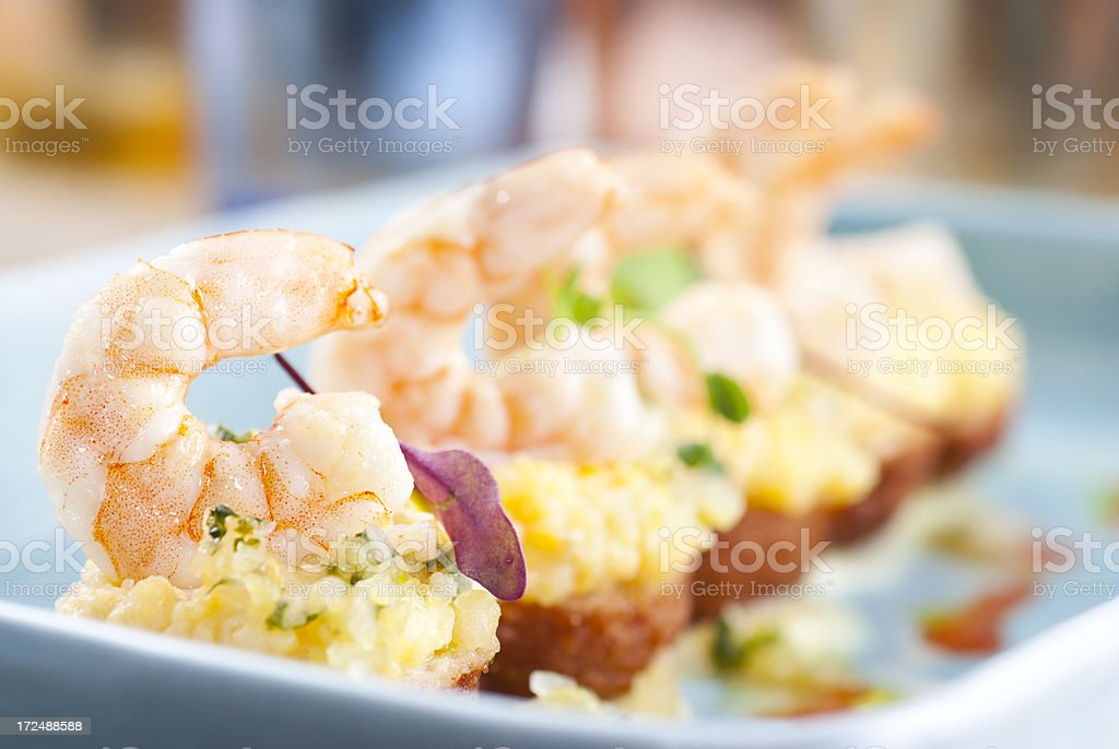 Gourmet Shrimp stock photo