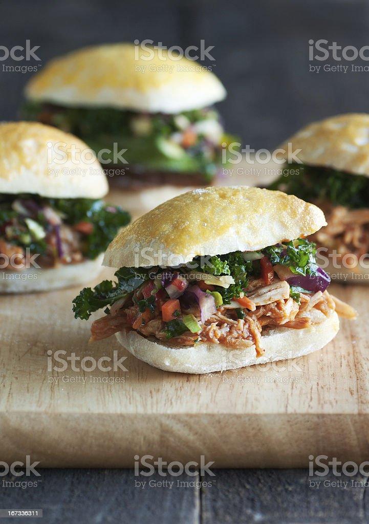 Gourmet Sliders stock photo