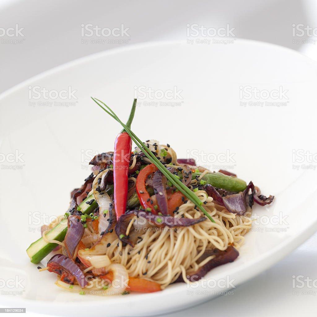 gourmet spaghetti royalty-free stock photo