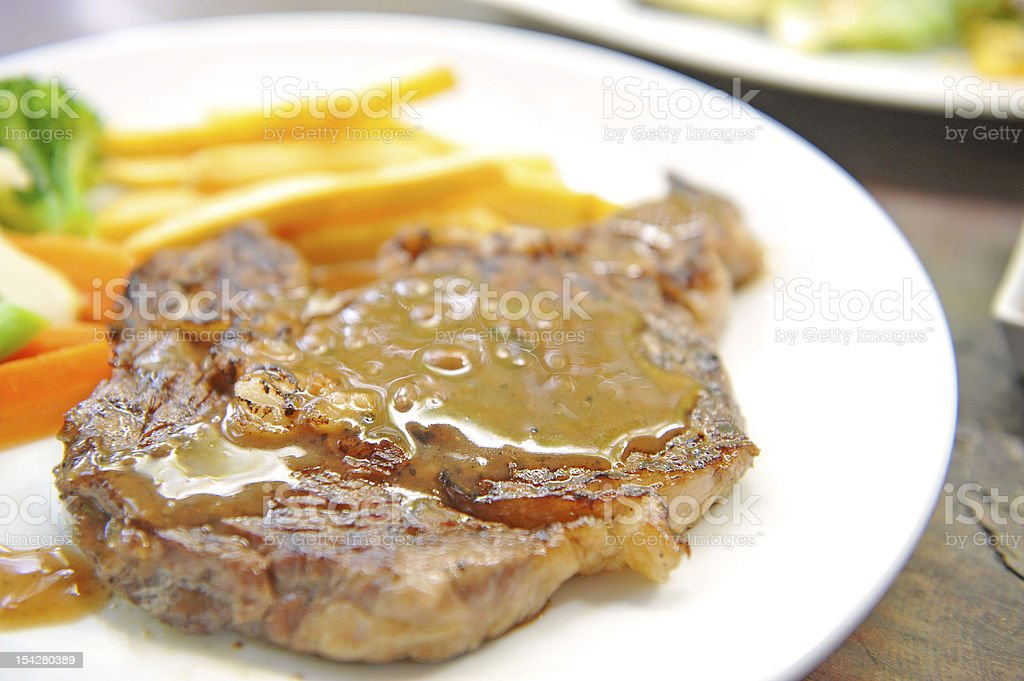 gourmet steak royalty-free stock photo