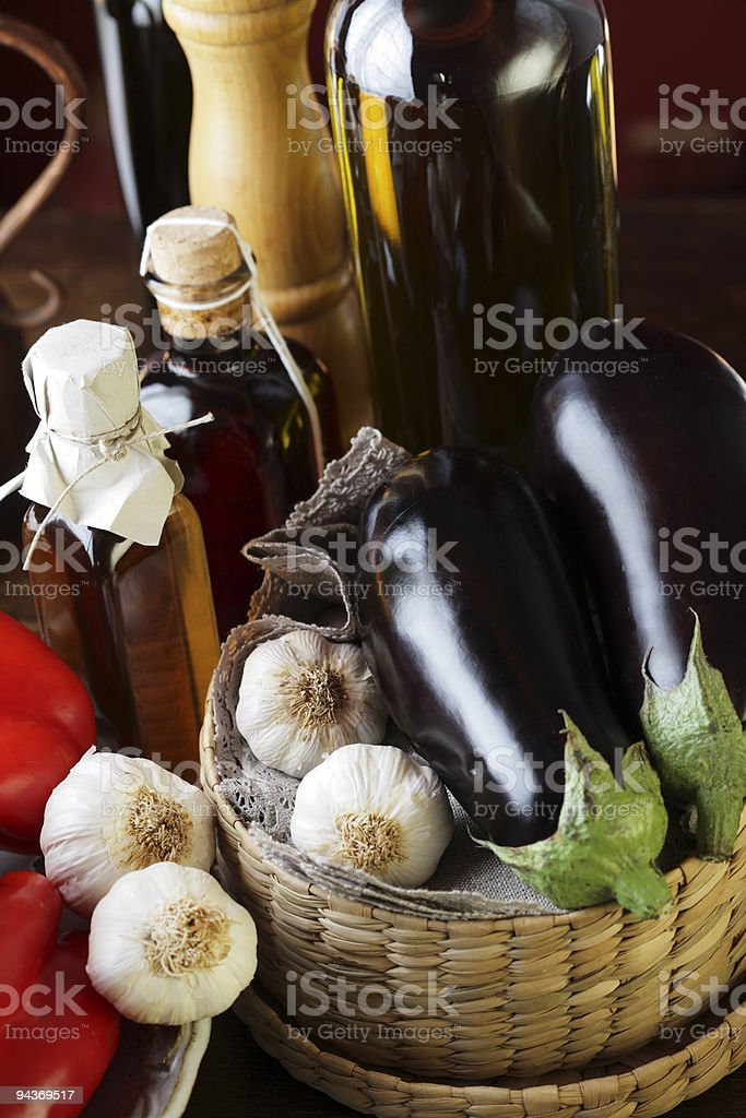 Gourmet still life. royalty-free stock photo